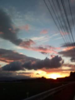 9月の夕焼け空