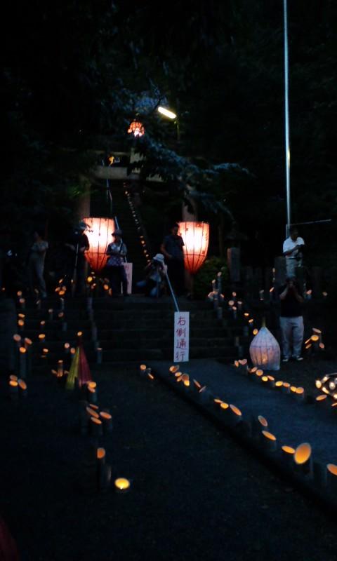 千灯明と神楽(小石原村