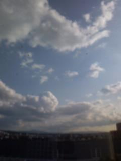 冬の晴れた空