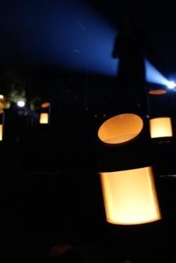 竹筒の明かり